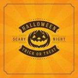 Happy Halloween Vector Background and Pumpkin Stock Images