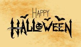 Happy Halloween vector banner Stock Images