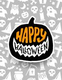 Happy Halloween. Vector banner scary design Stock Images