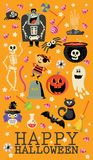 Happy Halloween vector banner. Set. Trick or treat. Happy Halloween vector banner with halloween icons. Trick or treat. Set Stock Image