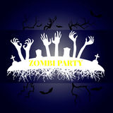 Happy Halloween Vector booklet. Evil spirit comes out Royalty Free Stock Images