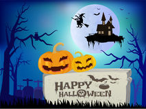 Happy halloween vector illustration. Royalty Free Stock Image