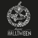Happy Halloween!. Happy Halloween vector Jack O Lantern. Seasonal halloween elements for design. Vector Illustration Stock Images
