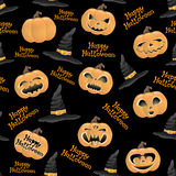 Happy Halloween. Vector seamless background. Happy Halloween Royalty Free Stock Image