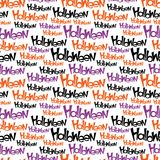 Happy Halloween vector seamless pattern. Stylish Stock Image