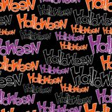 Happy Halloween vector seamless pattern. Stylish Stock Photography