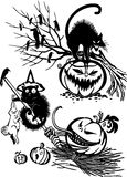 Happy Halloween - vector set. Royalty Free Stock Images