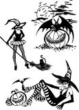 Happy Halloween - vector set. Royalty Free Stock Photos