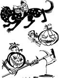 Happy Halloween - vector set. Royalty Free Stock Image