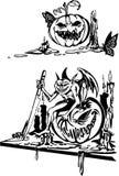 Happy Halloween - vector set. Royalty Free Stock Image