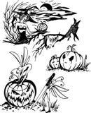 Happy Halloween - vector set. Stock Images