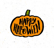 Happy Halloween vintage banner with typography Stock Photo