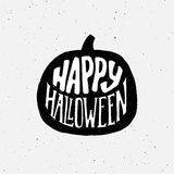 Happy Halloween Vintage Banner With Typography Royalty Free Stock Photos