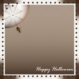 Happy Halloween vintage brown background Royalty Free Stock Photography