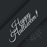 Happy halloween vintage lettering background Stock Photo