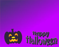 Happy Halloween in violet. With pumpkin latern Royalty Free Stock Photo