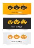 Happy Halloween web set banner Stock Photos