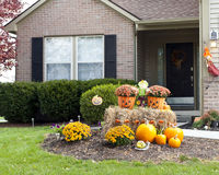 Happy Halloween Welcome Home Stock Photo