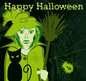 Happy halloween witch Royalty Free Stock Image