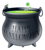 Happy Halloween witch cauldron Royalty Free Stock Photos