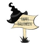 Happy halloween witch hat Stock Photography