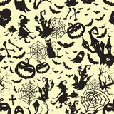 Happy Halloween witch Pumpkin Background Vector pattern and texture. Halloween Flat Design. vector illustration