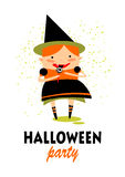 Happy halloween witch Stock Photography