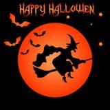 Happy Halloween  witch Stock Image