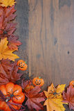 Happy Halloween Wood Background with Copyspace. Stock Photography