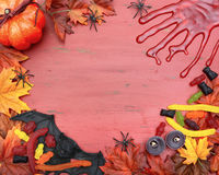 Happy Halloween Wood Background with Copyspace. Royalty Free Stock Photography