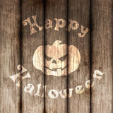 Happy Halloween wooden painted Background Royalty Free Stock Photo