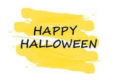 Happy halloween yellow stamp Royalty Free Stock Images