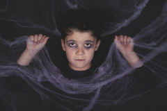 Happy halloween. Zombie child dressed for halloween Royalty Free Stock Images