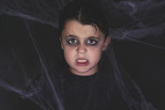 Happy halloween. Zombie child dressed for halloween Royalty Free Stock Photo