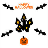 Happy hallowen card. Halloween Spiderweb Background .happy hallowen card Stock Photography
