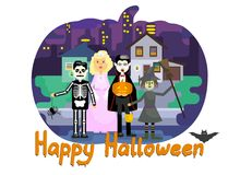 Happy hallowing card Royalty Free Stock Image