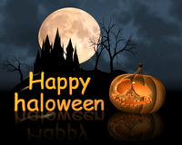 Happy haloween. Party with pumkin Royalty Free Stock Photo