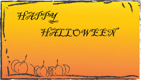 Happy haloween. Halloween background with pumpkins and an artistic border Royalty Free Stock Photos