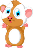 Happy hamster cartoon stand Stock Photography