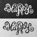 Happy hand lettering Royalty Free Stock Photography