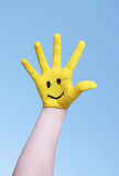 Happy hand in the sky Stock Photos