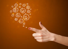 happy hand smiley faces Royalty Free Stock Photo