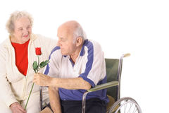 Happy handicap couple Stock Photos
