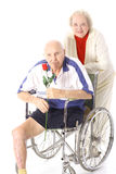 Happy handicap couple in love Stock Image