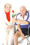Happy handicap couple vertical Stock Photo