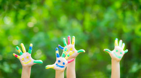 Happy hands Stock Images