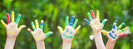 Happy hands stock photography