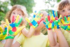 Happy hands Stock Image