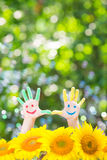 Happy hands Royalty Free Stock Photos