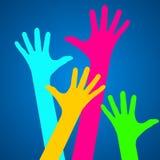 Happy hands design Stock Photos